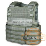 LEISONTAC Ballistic Vest with Quick Release System adopt 1000D nylon fabric with Kevlar material with NIJ IIIA for military
