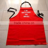 cheap BBQ apron &cotton apron for kitchen and promotion red bib apron with competitive price -11