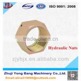 Carbon steel hexagon nut for hydraulic fittings