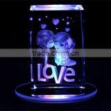 3D Laser Crystal Engraving crystal Gifts For Wedding valentine's day Souvenirs Home Decoration