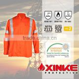 custom breathable orange long sleeve cotton fire retardant safety work shirt