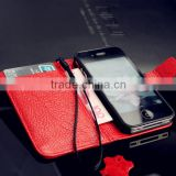 2014 new butterfly design real leather cases for iphone 4/for apple iphone 5 genuine leather cover accessories wholesale
