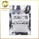 synthetic round brilliant cut loose star cut 1.2mm white cubic zircon