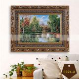 Leaf fall embroidered tapestry of beautiful scenery with high quality and competive price