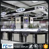 Easy Installation high-end retail shop glass-wooden jewelry display cabinet cosmetic showcase shop counter design