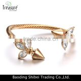 Occident fashion rhinestone gold plating thin bracelets for wholesale