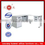 Factory direct sale steel L-Shaped Office Workstation Computer Desk, Metal Corner Computer Desk
