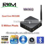 Rikomagic Quad Core Android4.4 box with camera,microphone,802.11n WIFI,TF card,optical,2GB DDR3,8G/16G Flash