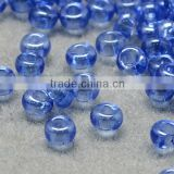 11/0 Glass Seed Beads, Transparent Lustered, CornflowerBlue Micro Beads(SEED-Q011-F513)