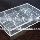 Clear Gem Tray Jewelry Storage Container with 12 Sections Compartments(PCT102)