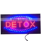 NEW Slim Animated LED Neon Light Detox Shop Sign Bright Store Display Blue Red