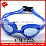 2014 Newest anti-fog swimming goggles wholesale with variouis design and adjustable silicone strap