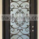 2012 factory new design manufacturer wrought iron front doors home decoration outside garden gate door fencing made in China