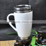 white ceramic cover stainless steel travel mug thermo cup                                                                         Quality Choice                                                     Most Popular