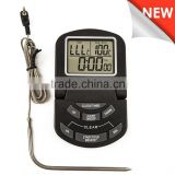 Digital Kitchen Food Probe bbq Cooking Thermometer for Smoker, with timer/clock function