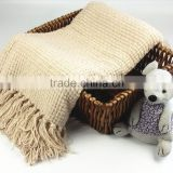 Textured Chunky Knit Throw Acrylic Blanket