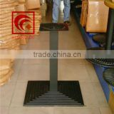 Guangdong hardware furniture, cast iron cascade grain chassis, cast iron single-column table legs, black dining tables