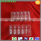 transparent thermoformed ampoule trays 5packs