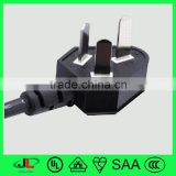 ccc certificated power cord with top quality 10A 250V 3 pin male plug