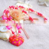 kids plastic bracelet heart pendant necklace finger ring kids wholesale jewelry