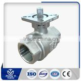 Testing according to API-598 stainless steel cf8m stainless steel ball valve with handle
