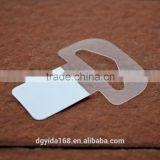 Self Adhesive Packing PVC Plastic Pet Hang Tab For Display Products