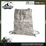 Wholesale tactical military camo Drawstring Bag school gym sports bag camping luggage with water resistant fabric for wholesale