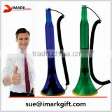 Plastic Beer Bottle shaped table stand pen for promotion, new style desk pen