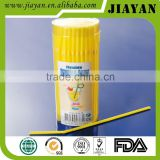 round cover pvc boxed drinking straw