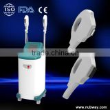 Top Factory price Fast continuous working shots with higher power with 2 handles ipl aesthetic laser)