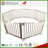 2015 safety care wooden folding baby playpen wooden beech baby playpen