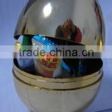 Plastic Gold plate Easter egg/surprise egg toy
