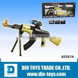 Outdoor toys ABS plastic safe B/O sniper toy gun toy sniper rifles included battery with light and viose