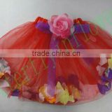 baby girl petals filled skirts