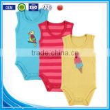 applique summer wear short sleeveless pattern custom made infant cotton smocked infant baby boy romper