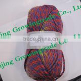 Superwash Multi-color 40% wool 60%Acrylic wool/acrylic blended space dyeing dyed hand knitting yarn soft needle yarn