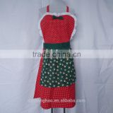 hot sale new style Christmas kitchen apron promotation uniform apron