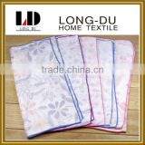hot sale flower pattern three layers good absorption soft cotton gauze handkerchief