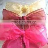"Organza sash for chair cover 6""x108"" beautiful organza chair sash"
