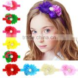 With rose floral Headband Tiara baby 16 colors optional wholesale new hot hair of children in Europe and America