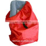 Red Nylon Foldable Drawstring Baby Car Seat Cover