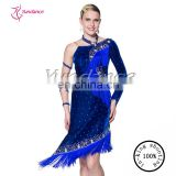 New fashion bead latin dance dress for cha cha L-11208