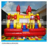 cheap inflatable funcity / inflatable jumping castle with slide /inflatable bounce house