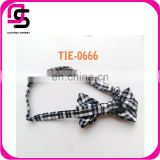 New 2015 fashion cotton grid pattern neckwear decoration custom bow tie