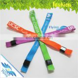 Promotional Bulk Wristbands Gift, Hotel Festival Fabric Wristbands with Custom Buckle