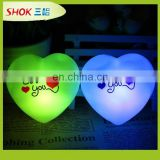 The new love you changes color small night lights