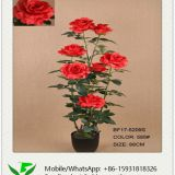 88cm Artificial Rose in Plastic Pot