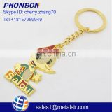 2017 cheap items to sell aibaba com metal spanish yellow duck keychain epoxy keychain travel gift key chains