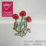 Beautiful flower in blooms embroidery patch for wholesea products for clothes