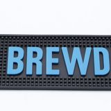 soft pvc customized logo rubber popular bar mat